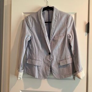 Express Seersucker Blazer - Blue